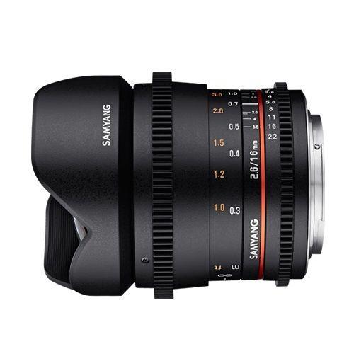 Samyang 16mm T2.6 VDSLR Lens with Sony E Mount