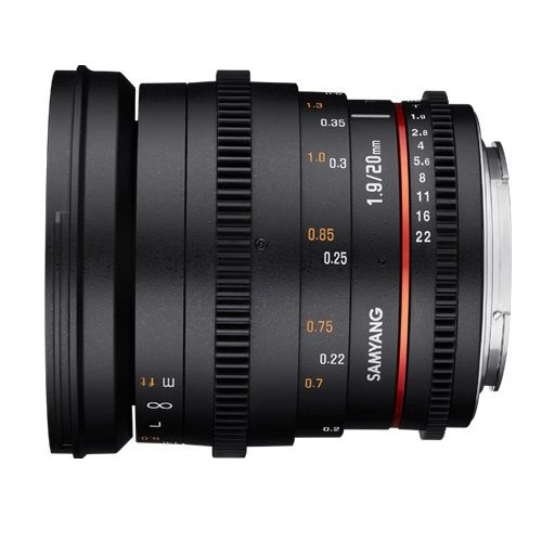 Samyang 20mm T1.9 VDSLR AS UMC Lens for Sony E Mount