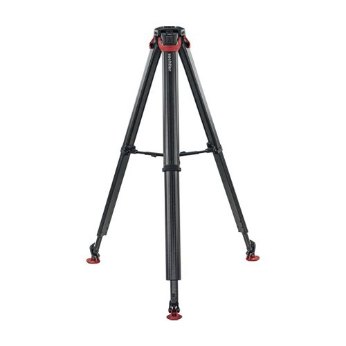 Sachtler Flowtech 75 MS Carbon Fiber Tripod with Mid-Level Spreader and Rubber Feet