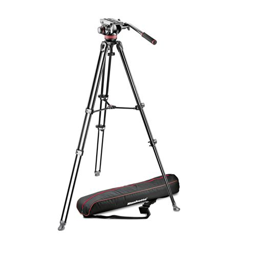 Manfrotto Tripod 502 fluid video head&MVT502AM alu twin leg tripod