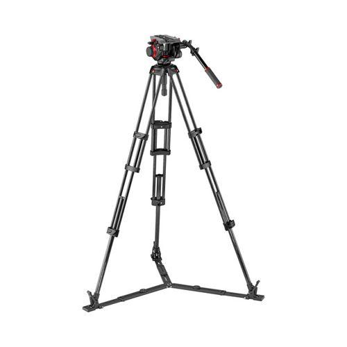 Manfrotto Tripod 504 video head w/CF Twin leg tripod GS 100/75mm