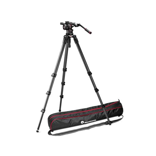 Manfrotto Nitrotech N12 video head w/ CF Tall Single Legs Tripod