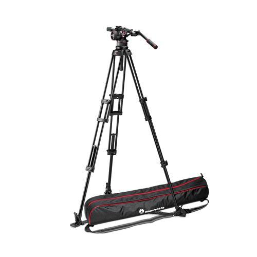 Manfrotto Nitrotech N12 video head w/ Twin leg tripod ground spreader