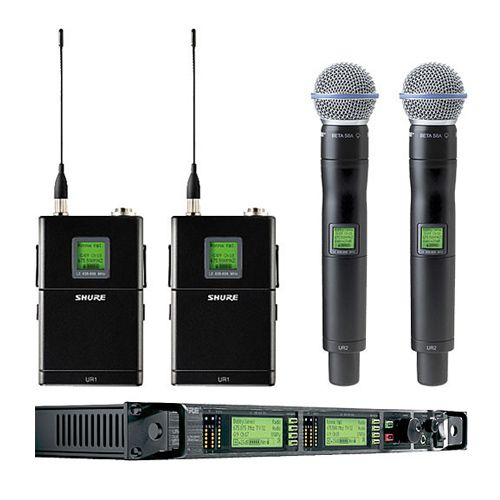 Shure UHF-R Professional Diversity Wireless Combo Microphone System