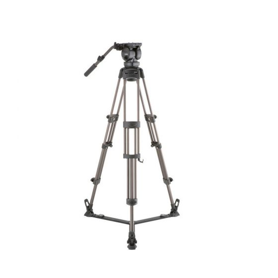 Libec LX10 Two-Stage Aluminum Tripod System and H65B Head and Ground-Level Spreader
