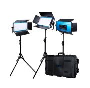 Dracast LED1000 X Series Bi-Color LED 3 Light Kit with Injection Molded Travel Case
