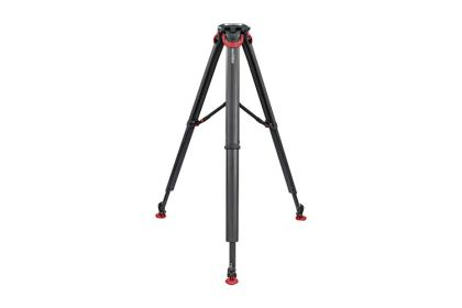 Sachtler flowtech 100 MS Carbon Fiber Tripod with Mid-Level Spreader & Rubber Feet