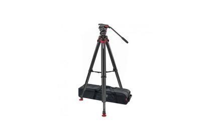 Sachtler System FSB 4 Fluid Head with Flowtech 75 Carbon Fiber Tripod with Mid-Level Spreader and Rubber Feet