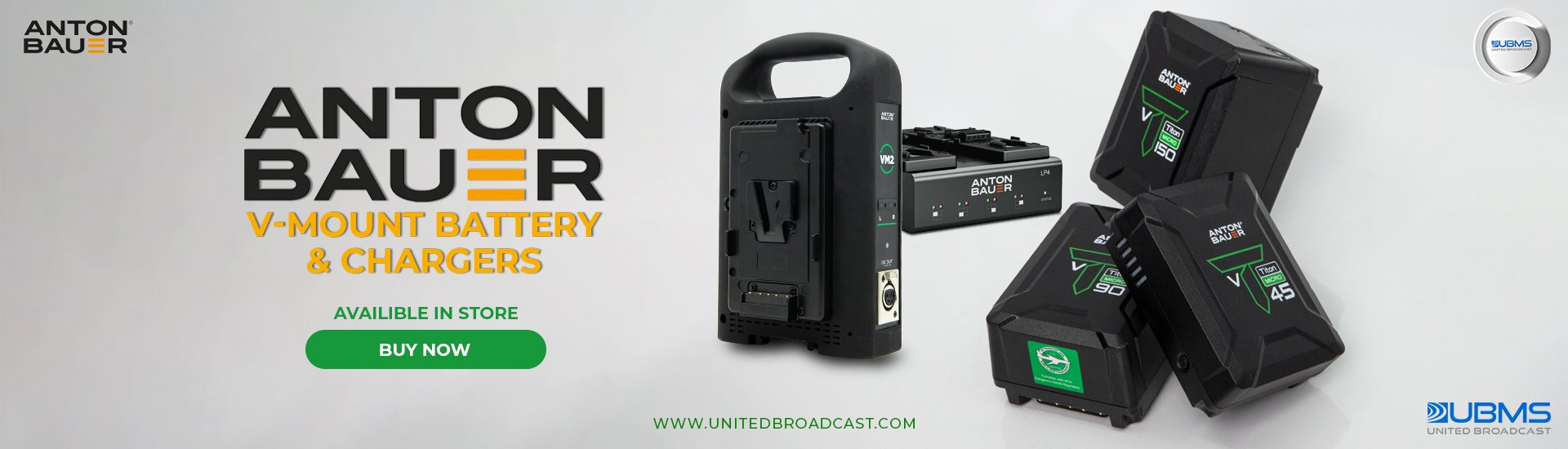 Anton Bauer V-mount batteries and chargers