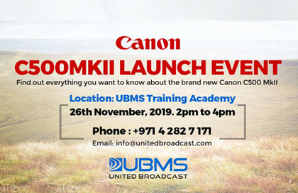 Canon C500 MkII launch event